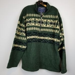 Polo sport Ralph Lauren men's green fleece jacket